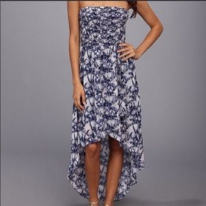 Michael by Michael Kors Blue/White High Low Dress